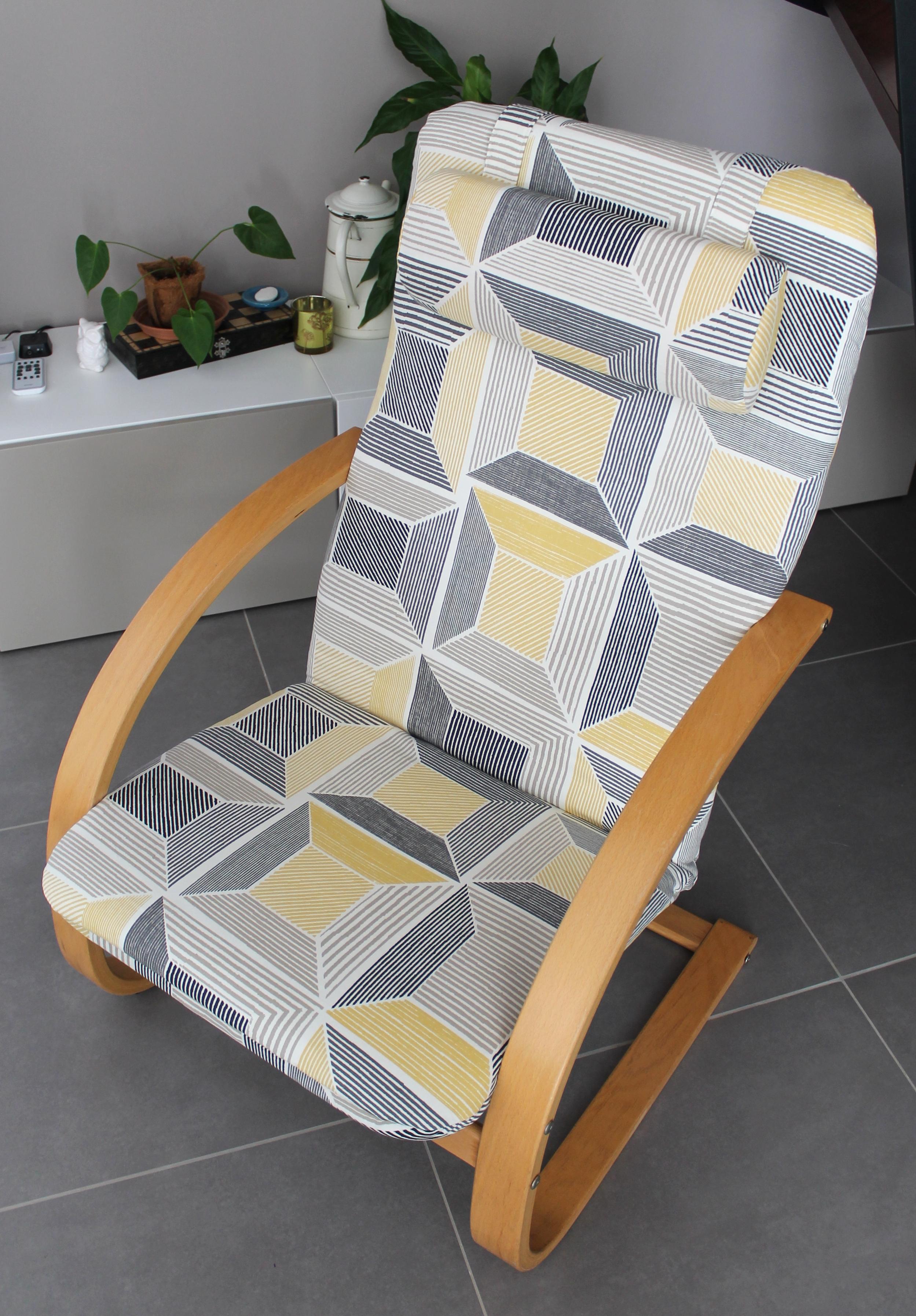 relooking fauteuil po ng la souris cr ative. Black Bedroom Furniture Sets. Home Design Ideas